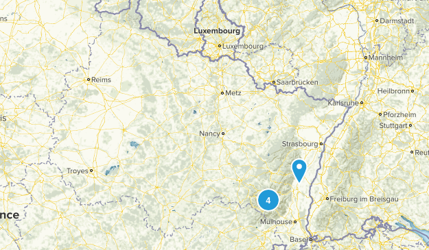 Grand Est, France Dogs On Leash Map