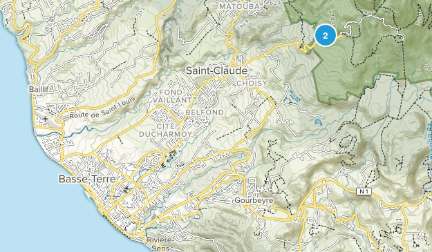 Guadeloupe, France National Parks Map