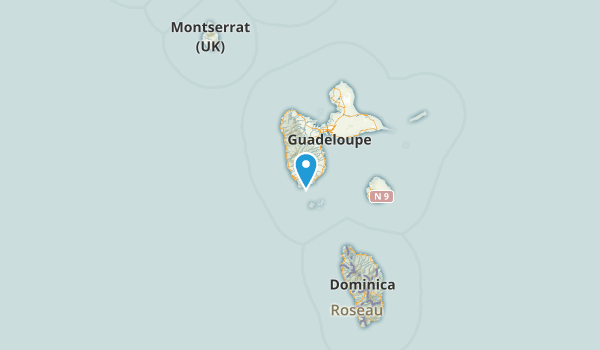 Guadeloupe, France Parks Map