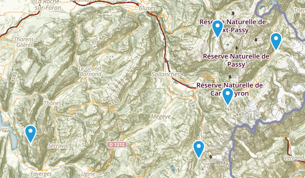 Haute-Savoie, France Backpacking Map