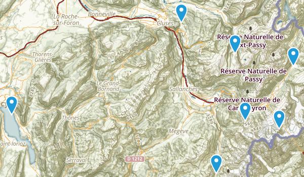 Haute-Savoie, France Views Map