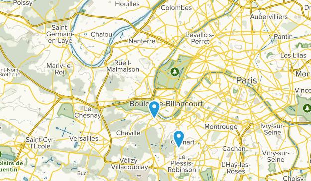 Hauts-de-Seine, France Parks Map