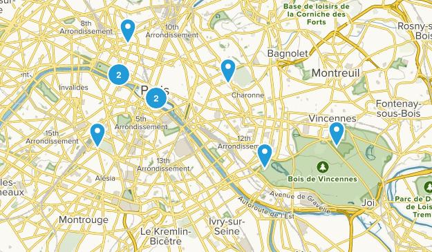 Île-de-France, France City Walk Map
