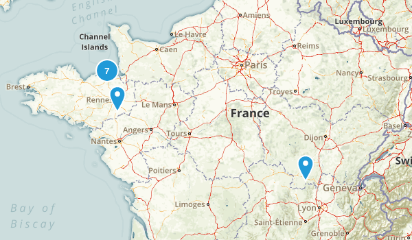 Ille-et-Vilaine, France Hiking Map