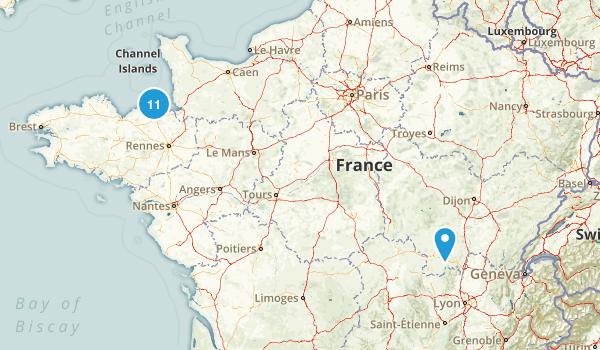 Ille-et-Vilaine, France Views Map