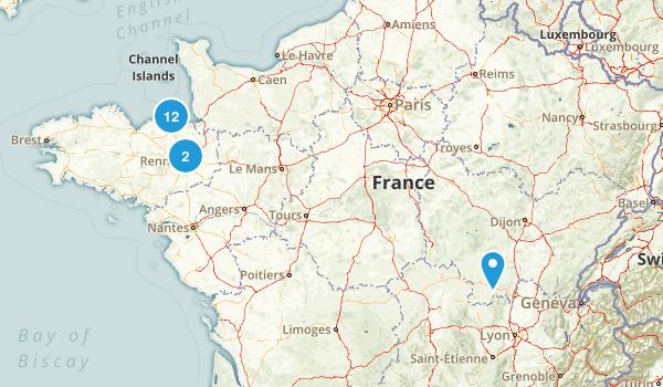 Ille-et-Vilaine, France Walking Map