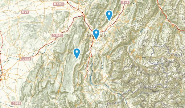 Isère, France Parks Map