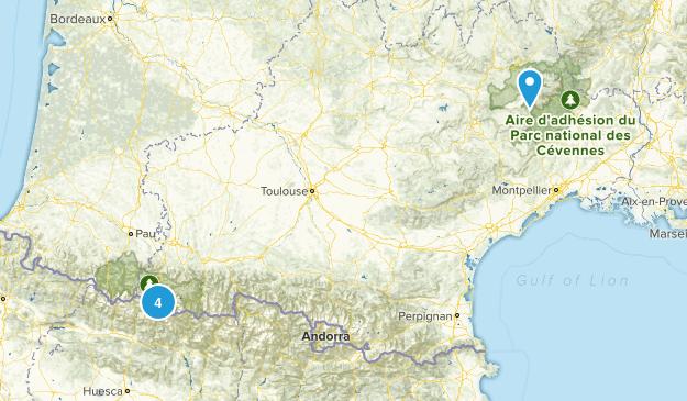 Occitanie, France National Parks Map