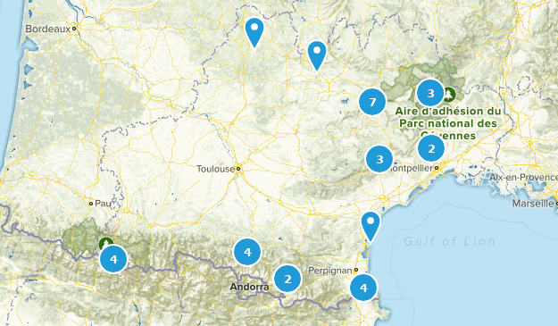 Occitanie, France Nature Trips Map