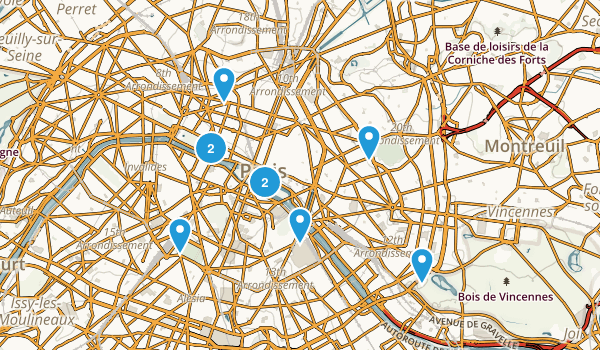 Paris, France Walking Map