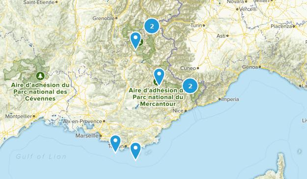 Provence-Alpes-Côte d'Azur, France Camping Map
