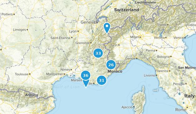 Provence-Alpes-Côte d'Azur, France Hiking Map