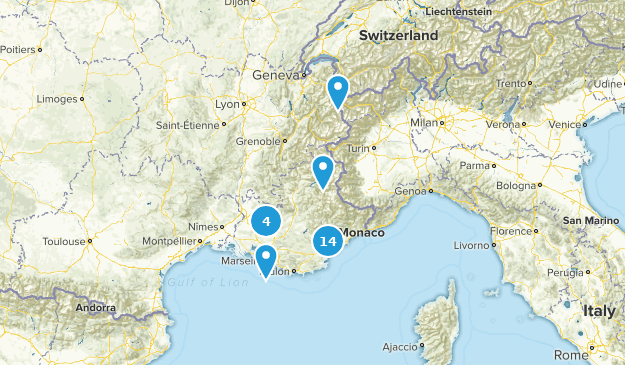 Provence-Alpes-Côte d'Azur, France Kid Friendly Map