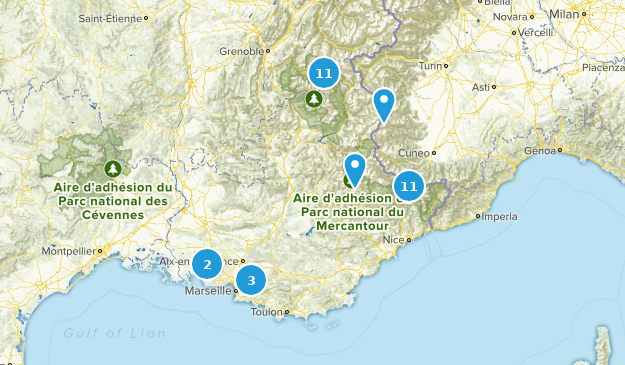 Provence-Alpes-Côte d'Azur, France Lake Map