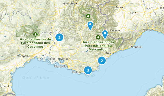 Provence-Alpes-Côte d'Azur, France Mountain Biking Map