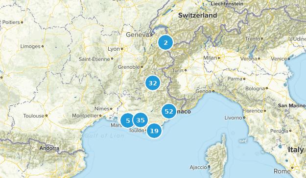 Provence-Alpes-Côte d'Azur, France Views Map