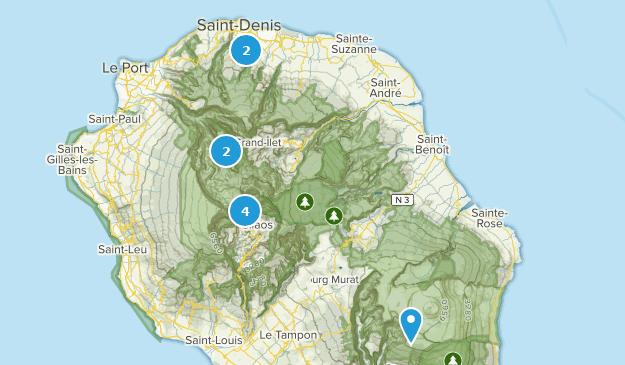 Réunion, France River Map