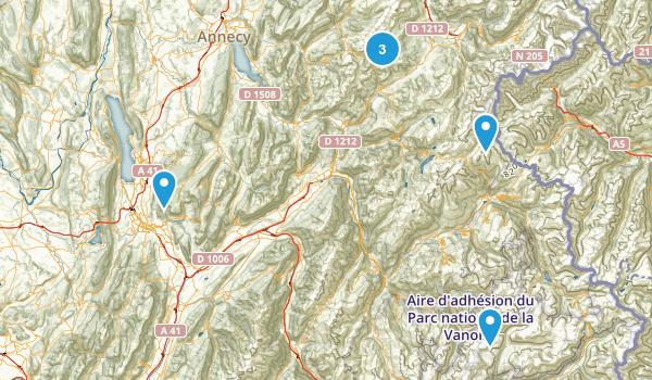 Savoie, France Hiking Map