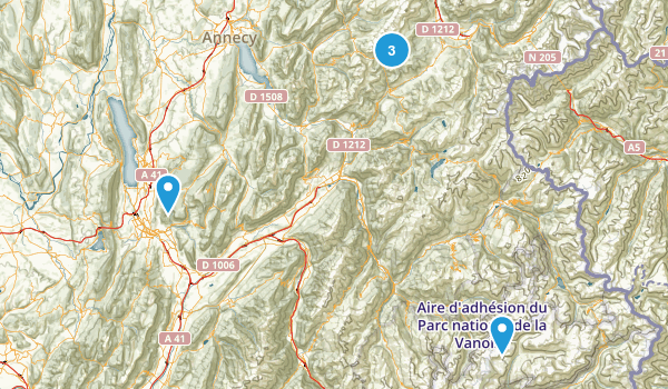 Savoie, France Nature Trips Map