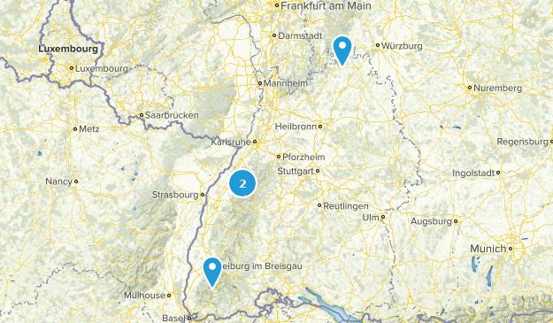 Baden-Württemberg, Germany Parks Map