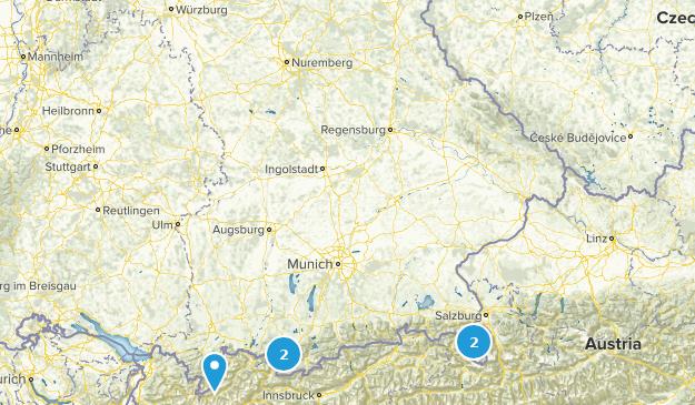 Bavaria, Germany Rock Climbing Map