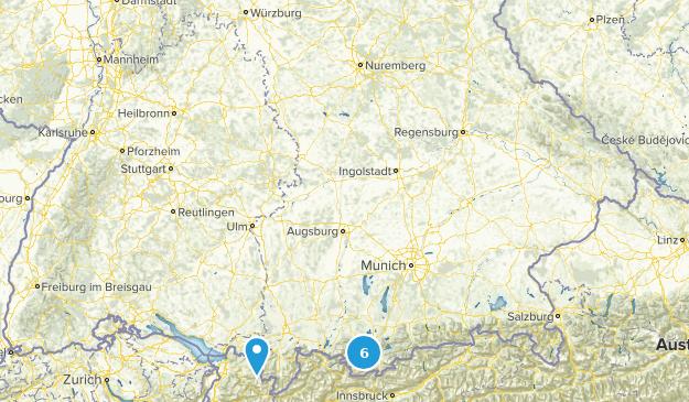 Bavaria, Germany Wild Flowers Map