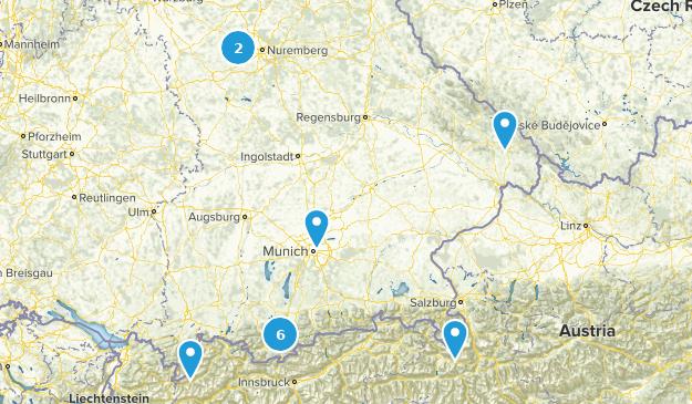 Bayern, Germany Lake Map