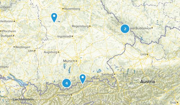 Bayern, Germany National Parks Map