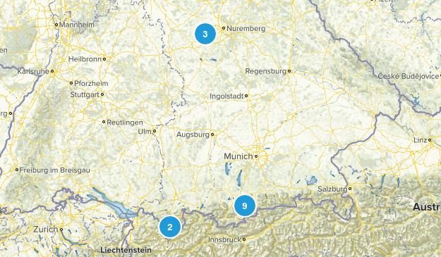 Bayern, Germany Nature Trips Map