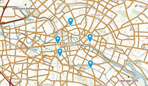 Berlin, Germany Hiking Map