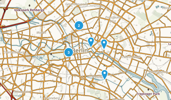 Berlin, Germany Walking Map