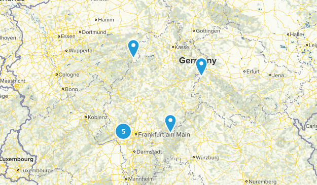 Hesse, Germany Walking Map