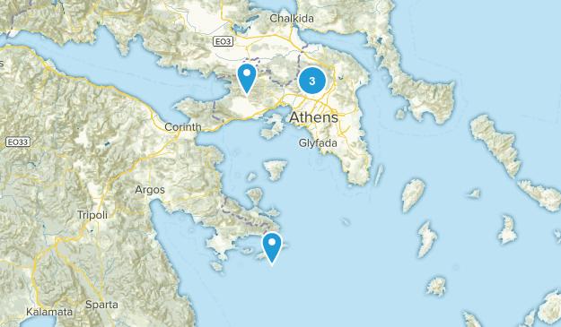 Attica, Greece Nature Trips Map