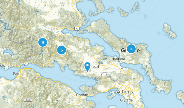 Central Greece, Greece Hiking Map