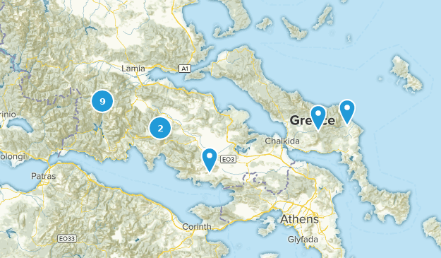 Central Greece, Greece Nature Trips Map