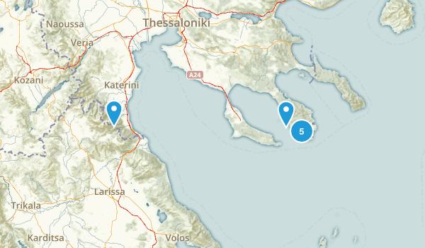 Central Macedonia / Κεντρική Μακεδονία, Greece Views Map