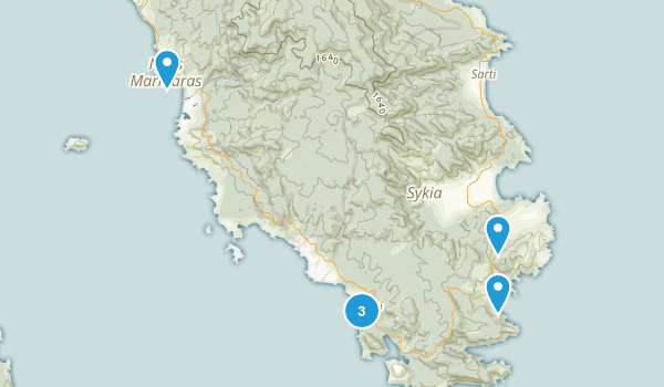 Central Macedonia, Greece Wild Flowers Map