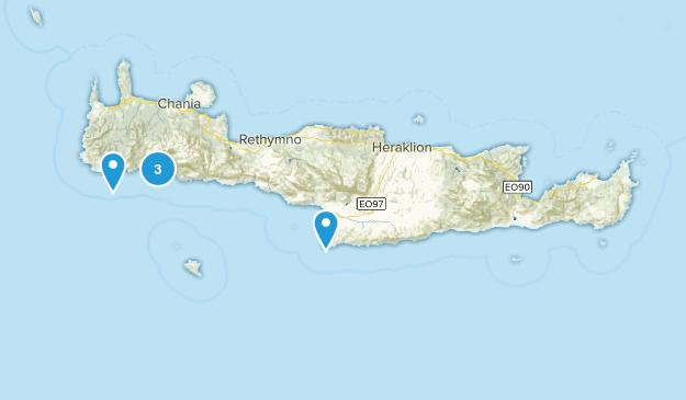 Crete, Greece Cave Map