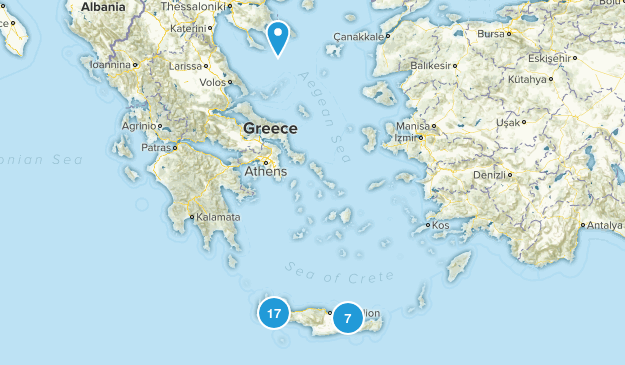 Crete, Greece Nature Trips Map