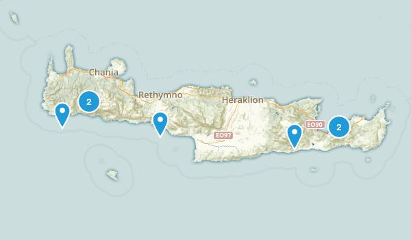 Crete, Greece Walking Map