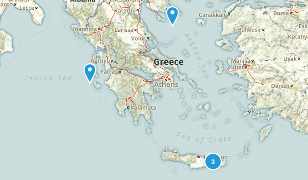 Kefalonia, Greece Nature Trips Map
