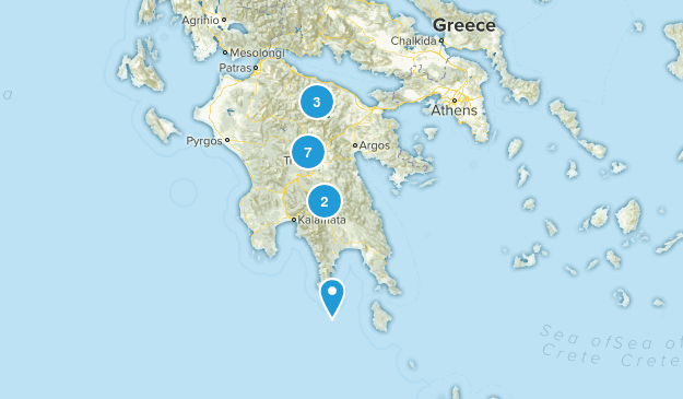 Peloponnese, Greece Nature Trips Map