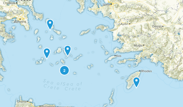 South Aegean, Greece Nature Trips Map
