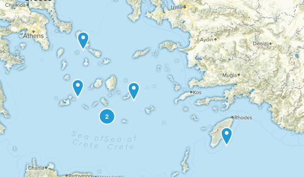 South Aegean, Greece Walking Map
