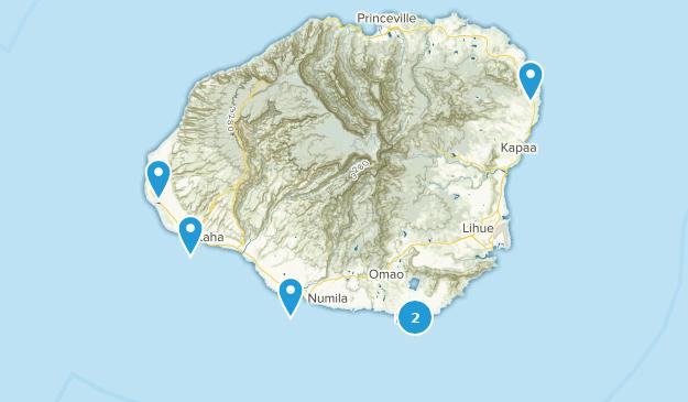 Kauai, Hawaii Surfing Map