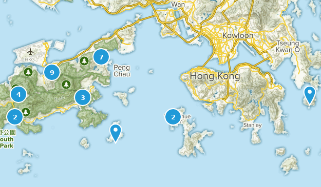 Islands, Hong Kong Nature Trips Map