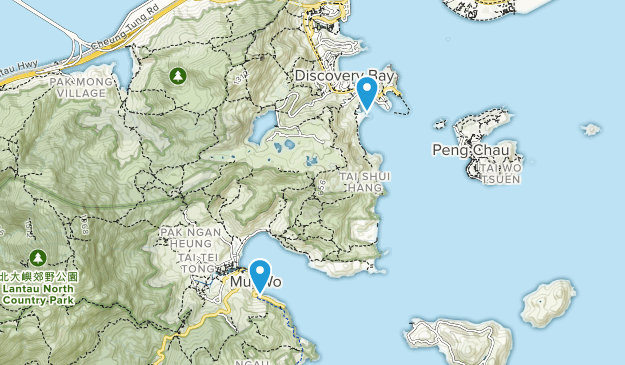 Islands, Hong Kong Parks Map