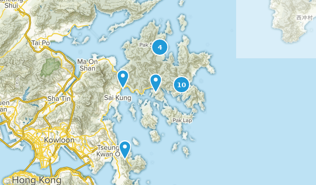 Sai Kung, Hong Kong Bird Watching Map