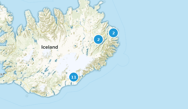 Austurland, Iceland Hiking Map