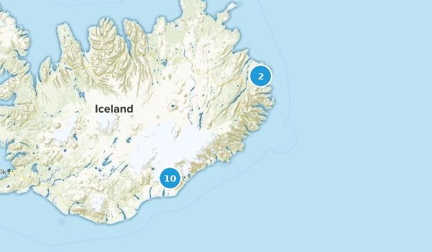 Austurland, Iceland Views Map